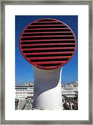Queen Mary Air Vent Framed Print by Garry Gay