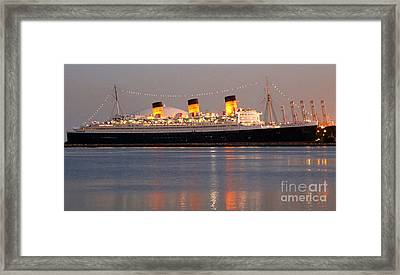 Queen Mary At Night Framed Print