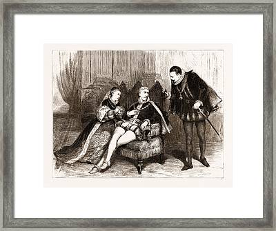 Queen Mary At The Lyceum Theatre, Act IIi Framed Print by Litz Collection