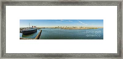 Queen Mary By Long Beach Framed Print