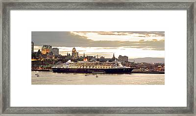 Queen Mary II Cruise Ship, Chateau Framed Print by Jean Desy