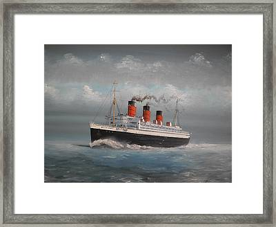 Queen Mary Framed Print by James McGuinness