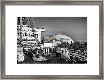 Queen Mary On Deck Framed Print by Mariola Bitner
