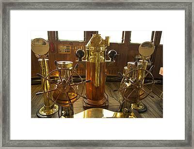 Queen Mary Wheelhouse Framed Print by Garry Gay