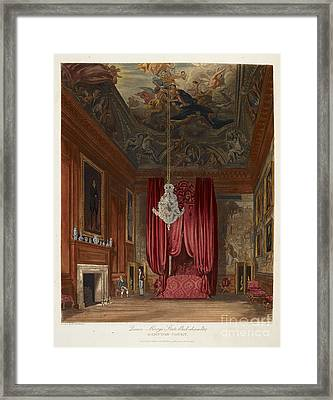 Queen Mary's Bed Chamber, Hampton Court Framed Print