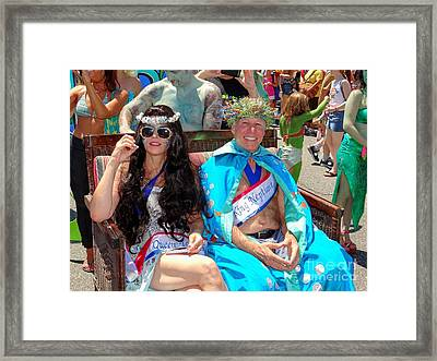 Framed Print featuring the photograph Queen Mermaid-king Neptune by Ed Weidman