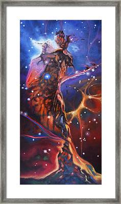 Queen Nebula 1 Framed Print by Toni Wolf