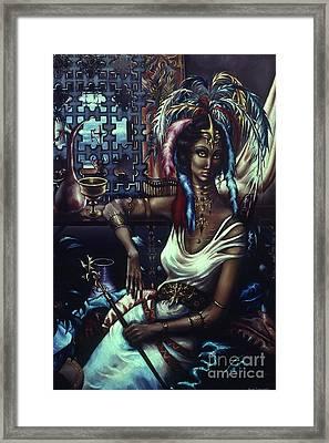 Queen Of Atlantis Framed Print by Jane Whiting Chrzanoska