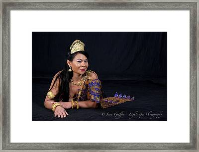 Queen Of Beauty Framed Print by Ti Oakva