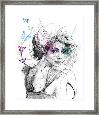 Queen Of Butterflies Framed Print