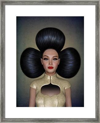 Queen Of Clubs Framed Print by Britta Glodde