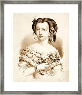Queen Of Hearts 1857 Framed Print by Padre Art