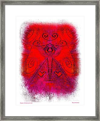Queen Of Hearts And Love Framed Print