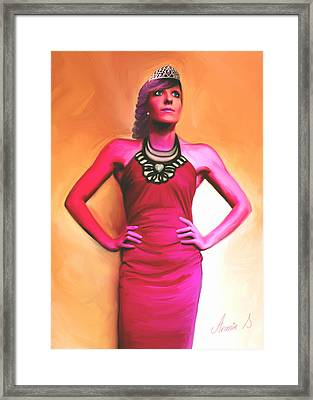 Queen Of Hearts  Framed Print by Armin Sabanovic