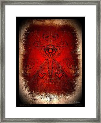 Queen Of Hearts Aura Framed Print by Roxy Hurtubise