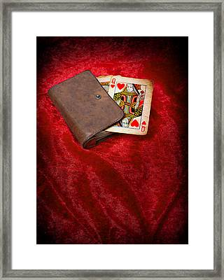 Queen Of Hearts Framed Print by Amanda Elwell