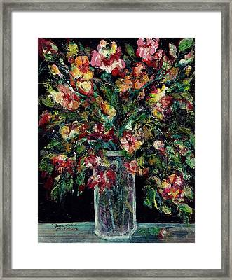 Framed Print featuring the painting Queen Of Hearts by Elaine Elliott