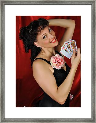 Framed Print featuring the photograph Queen Of Hearts by Jim Poulos