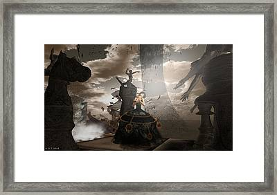 Queen Of Hearts - Love Is A Maelstrom Framed Print