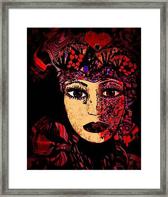 Queen Of Hearts Framed Print by Natalie Holland
