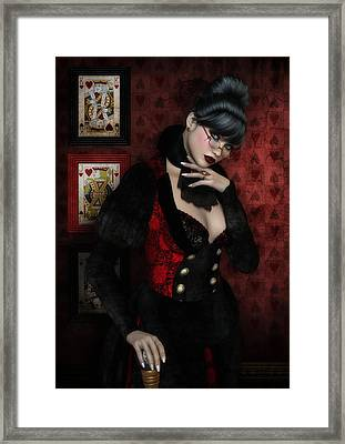 Queen Of Hearts Framed Print by Rachel Dudley