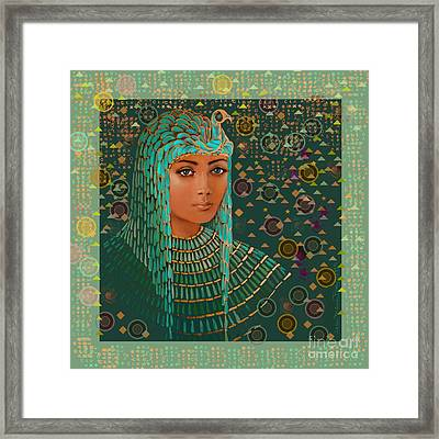 Queen Of Lost Language Framed Print by Jean Marie Bowcott