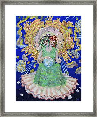 Queen Of Membranes 2 Framed Print by Shoshanah Dubiner