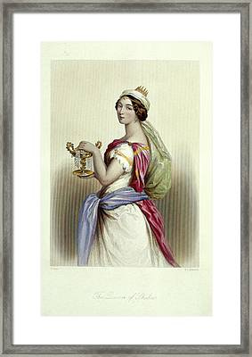 Queen Of Sheba Framed Print by British Library