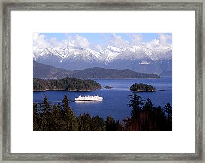 Queen Of Surrey In Winter Framed Print