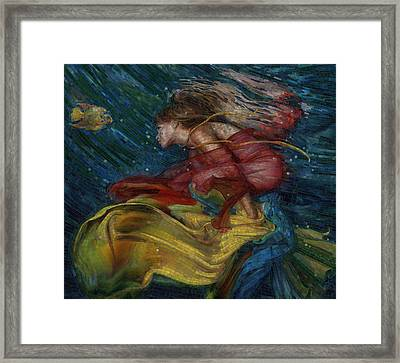 Framed Print featuring the painting Queen Of The Angels by Mia Tavonatti