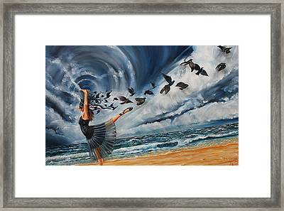Queen Of The Dark Storm Framed Print by Greg Norman