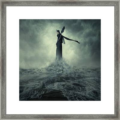 Queen Of The Darkness Framed Print