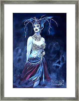 Queen Of The Dead Framed Print by Valarie Pacheco