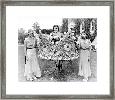 Queen Of The Flower Show Framed Print
