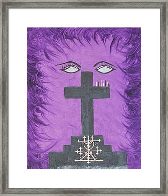 Queen Of The Ghede Framed Print by Dayila Divine