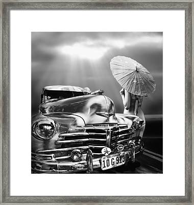 Queen Of The Highway Framed Print by Larry Butterworth