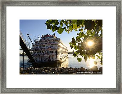 Queen Of The Mississippi Framed Print by Bob Petzinger