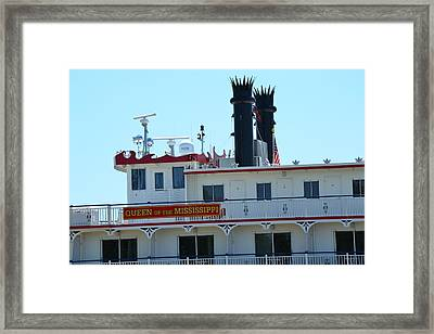 Queen Of The Mississippi Ferry Ship Framed Print by Kim Stafford