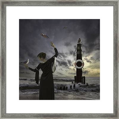 Queen Of The Seagulls Framed Print