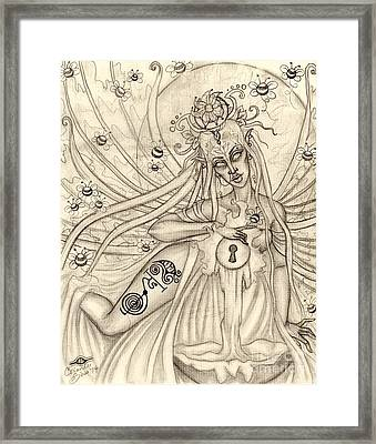 Queen Oonagh Framed Print by Coriander  Shea