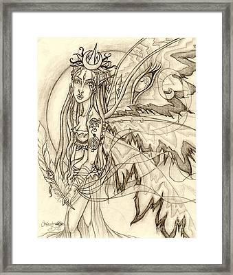 Queen Rhiannon Framed Print by Coriander  Shea