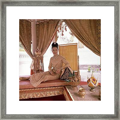 Queen Sirikit At The Grand Palace Framed Print