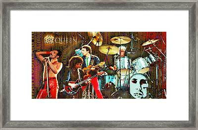 Queen Framed Print by Tony Rubino