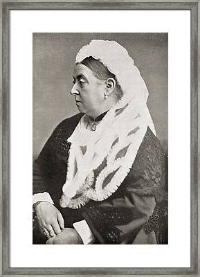 Queen Victoria Framed Print by English Photographer
