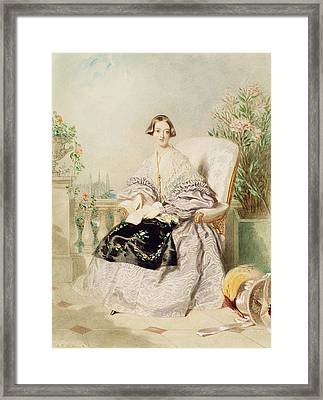 Queen Victoria, 1838  Framed Print by Alfred-Edward Chalon