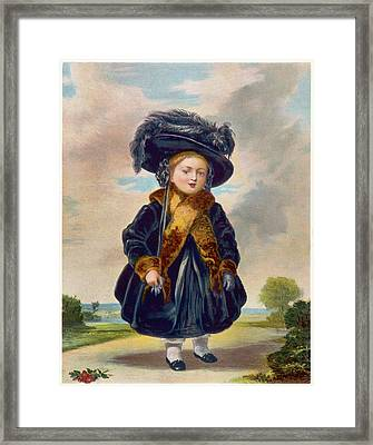 Queen Victoria  A Portrait From 1823 Framed Print