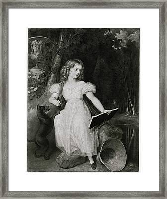 Queen Victoria  A Portrait From 1830 Framed Print