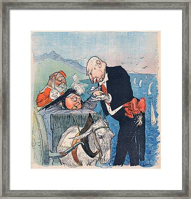 Queen Victoria  A Satirical View Framed Print