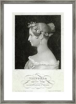 Queen Victoria  An Early Portrait Framed Print