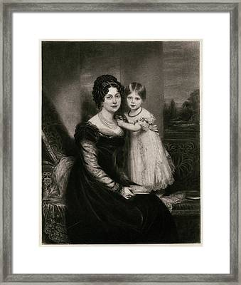 Queen Victoria  At The Age Of Two Framed Print